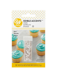 Wilton Silver Stars - Edible Accents