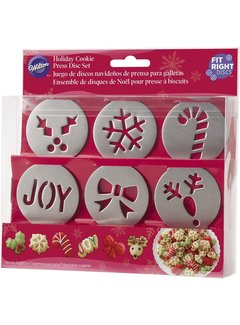 Wilton Cookie Press 6 Disc Christmas Set