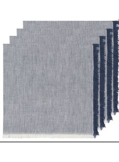 Heirloom Chambray 4pc Napkins - Midnight Blue