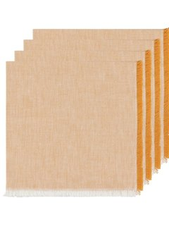 Heirloom Chambray 4pc Napkins - Ochre