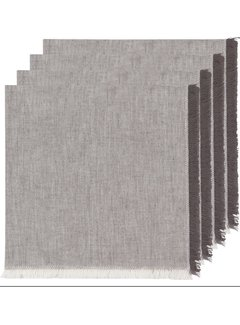 Now Designs Heirloom Chambray 4pc Napkins - Shadow