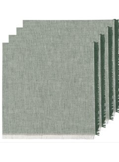 Now Designs Heirloom Chambray 4pc Napkins - Jade