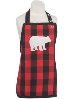 Children's Buffalo Check Bear Apron