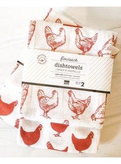 Now Designs Chicken Floursack - 2 piece set