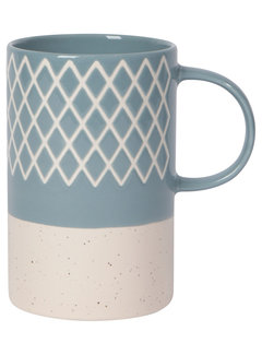 Now Designs Slate Blue Etched 14 oz Mug