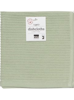 Now Designs Ripple Dishcloth Set - Sage
