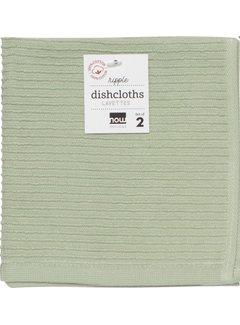 Ripple Dishcloth Set - Sage