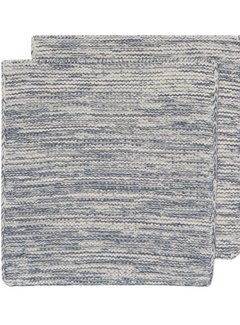 Heirloom Knit Dishcloth Set of 2 - Midnight