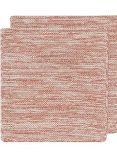 Now Designs Heirloom Knit Dishcloth Set of 2 - Clay
