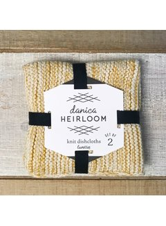 Heirloom Knit Dishcloth Set of 2 - Ochre