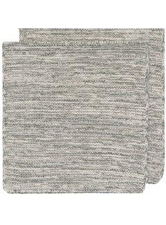 Now Designs Heirloom Knit Dishcloth Set of 2 - Jade