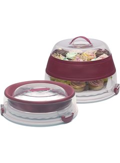 Progressive Collapsible Cake/Cupcake Carrier, Red