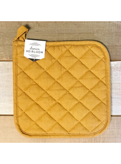 Heirloom Stonewash Potholder - Ochre