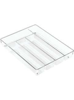 InterDesign Linus Cutlery Tray Clear