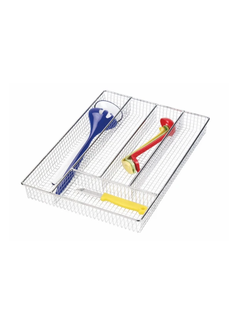 Better Houseware Large Cutlery Tray - Chrome