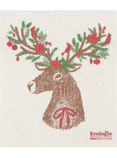 Dasher Deer Swedish Dishcloth