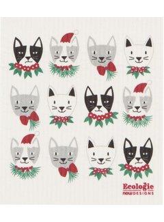 Now Designs Meowy Christmas Swedish Dishcloth