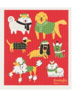 Yule Dog Swedish Dishcloth