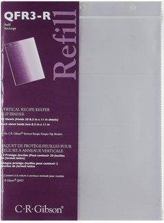 C.R. Gibson Vertical Flip Recipe Keeper Refill