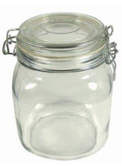 Port-Style Glass Clamp Jar 1 Liter /1 Quart