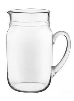 Drinking Jar Pitcher - CLear Glass