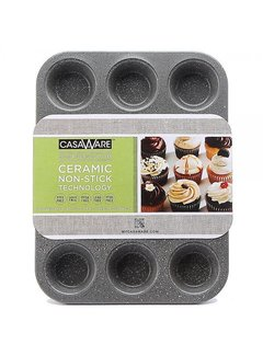 CasaWare Silver Muffin Pan 12 Cup