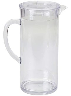 0.5 Gallon (2 L) Pitcher with Lid, Clear Plastic