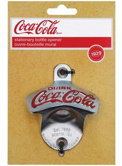 Coca-Cola Wall Mount Bottle Opener, Cast Metal