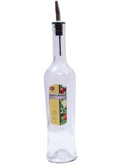 TableCraft 17 oz Glass Sottile Bottle w/ Pourer, Clear