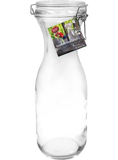 TableCraft 34 oz Resealable Glass Water Carafe