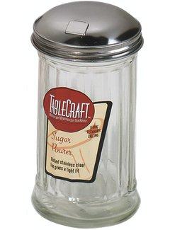 TableCraft 12oz Diner Style Fluted Sugar Pourer with Lid