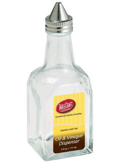 Oil/Vinegar Dispenser w/ S/S Top - 6oz / 177ml