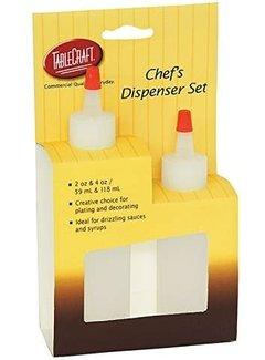 TableCraft 2-Pc Squeeze Bottle Set, 2 & 4 oz