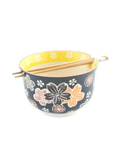 "Fuji Ramen / Udon Bowl with Chopsticks 6.25"" X 4"""