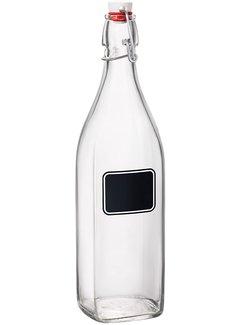 Bormioli Rocco Swing Bottle W/Chalkboard - 33.75 OZ (1 Liter)