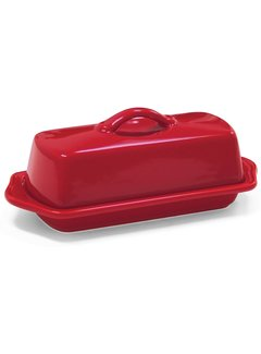 Chantal Butter Dish, Red