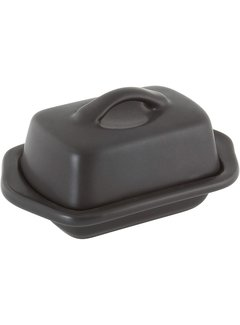 Chantal Mini Butter Dish, Matte Black