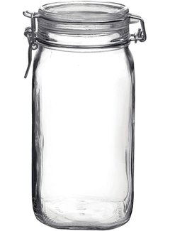 Glass Storage Jar w/ Locking Lid, 50.75 OZ (1.5 Liter)