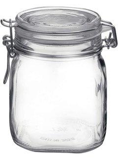 Glass Storage Jar w/ Locking Lid, 25 1/4 OZ
