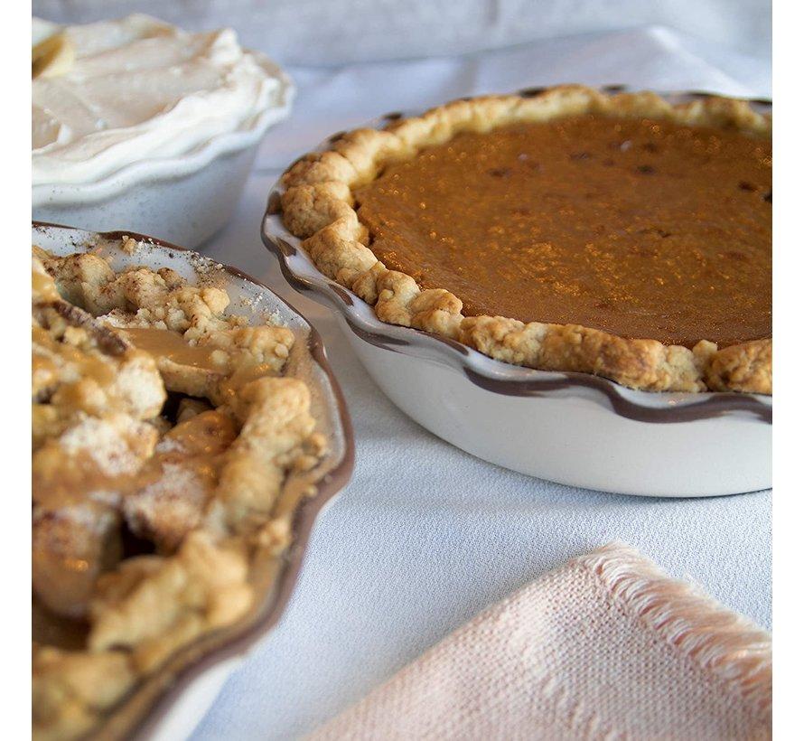 Pie Dish, New England White Ceramic