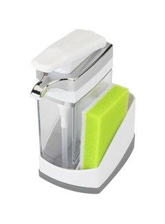 Casabella Sink Sider Solo w/Sponge - White/Chrome Plating