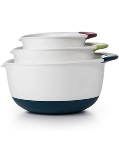 OXO Good Grips Mixing Bowl Set - White/Colored Grip, 3 Pc.