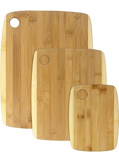 Totally Bamboo 3 Piece Two-Tone Cutting Board Set