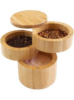 "Totally Bamboo 3 Tier Salt Box 3 1/2"" x 4 7/8"""