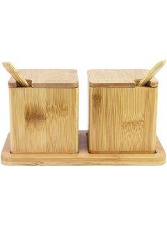 Totally Bamboo Double Dipper Salt Box