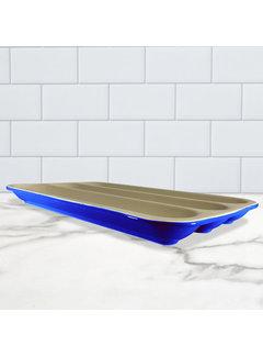 Sassafras Superstone® Baguette Baker - Blue Glaze