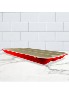Sassafras Superstone® Baguette Baker - Red Glaze