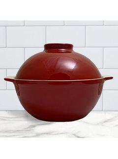 Sassafras Superstone Bread Dome Glazed - Red