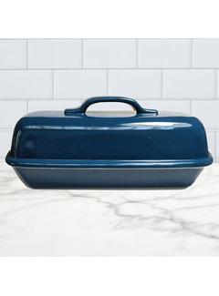 Sassafras Superstone Covered Baker Glazed - Blue