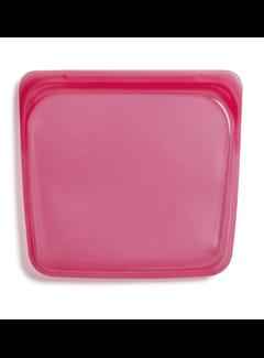 Stasher Silicone Reusable Sandwich Bag: Raspberry